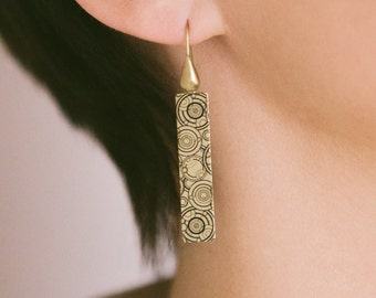 Gallifrey Time Lord Earrings - Whovian Doctor Jewelry - Geeky Girl Gift - Sci Fi Jewellery - Dr Who Gift For Girlfriend