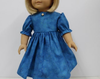 American Girl Blue Dress with Headband