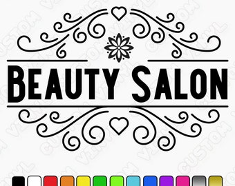 Beauty Salon Decal, Beauty Salon Sign, shop wall stickers/decals hair and beauty decals