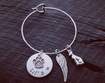 Sphynx Memorial Bracelet | Pet Memorial Jewelry | Cat Memorial Jewelry | Rainbow Bridge Jewelry | Pet Sympathy Gift | Pet Sympathy Jewelry