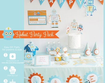 Robot theme party Etsy