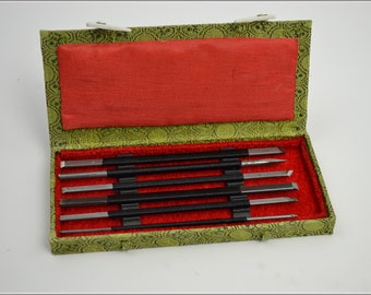 Free Shipping Chinese Calligraphy Material  Set Carbon Steel Seal Carving Knife Seal Burin Seal Graver - 6 Piece / - 0009