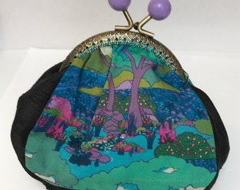 Handmade Liberty print coin purse
