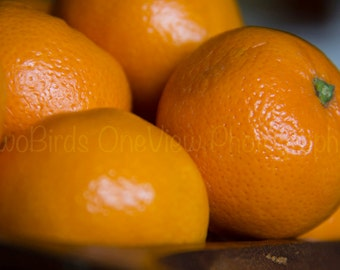 Instant Digital Photograph Download - Holiday, Tangerine, Fruit, Orange, Citrus, Winter, Greeting Card Layout, Bright, Warm, Christmas