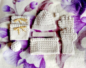 White winter crochet set