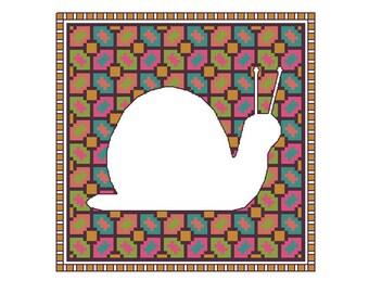 Snail cross stitch pattern, 4 x PDF cross stitch charts snails