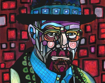Breaking Bad Art Poster Print of Painting Walter Modern Abstract Portrait (HG221)