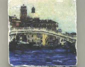 Scalzi Bridge in Venice Italy - Original Coaster