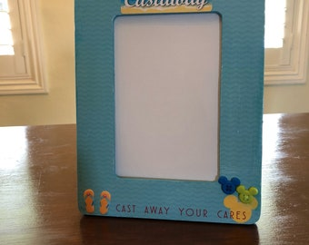 Picture Frame- OOAK- Castaway Cay picture frame, cruise, gift