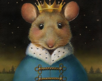 Nutcracker Mouse - Mouse Print - Mouse King - Christmas Mouse Portrait - Mouse Art - Mouse Lover's Gift - Animal Lover Gift