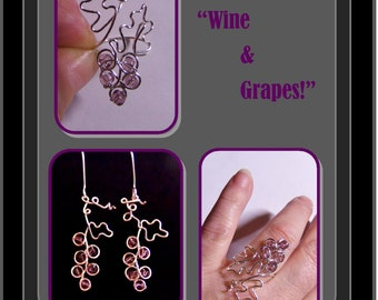 wine lovers gift,grapes jewelry,,grapes gifts,wine and grapes ring,wine, grapes,bartender,winery,