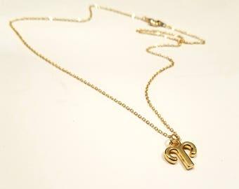 Dainty gold Zodiac necklace