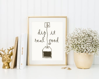 Tea Print, tea poster, tea, tea wall art, tea funny print, funny, tea bag, tea drawing, tea art, Wall Art, typography, Home Decor Art