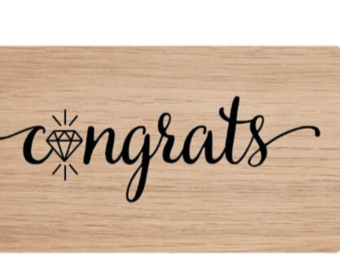 Congrats stamp by American crafts