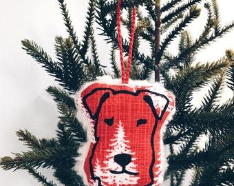 Fleecy Terrier Christmas Decoration