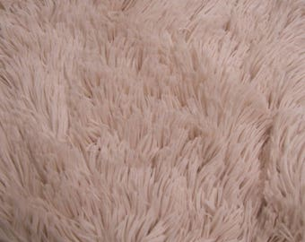 Dusty Pink Pile with Tassel Faux Fur Fabric by the Yard Style - 5050