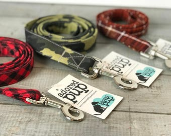 Dog Leashes!!  You Choose Fabric!! Leash - Cool Dog Goods, Modern Dog Collars with Coordinating Leash
