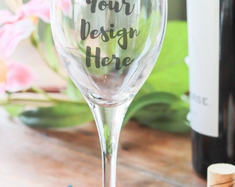 Wine Glass Mockup 101 - Instant Digital Download - Wine Bottle Corks Flowers - Home and Kitchen - Photo
