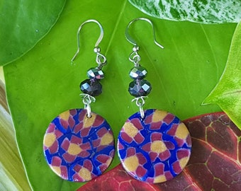 Khloris Disc Dangle @BonnieAndBlu Handmade ~ Dangle Earrings ~