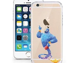 Spirit Aladdin Color Protection transparent TPU cartoon comic smartphone case