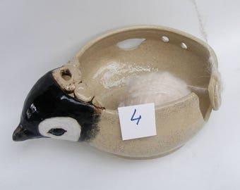 Big Baby Penguin Yarn bowl, Stoneware Ceramic Yarn Bowl No. 4