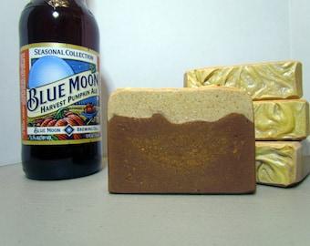 Drunken Pumpkin Cold Process Silk Beer Soap