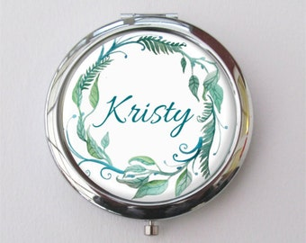 Personalized Compact Mirror, Bridesmaid Gift, Purse Mirror, Gift For Her