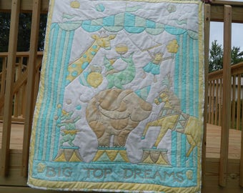 Big Top Dreams Baby or Toddler Quilt