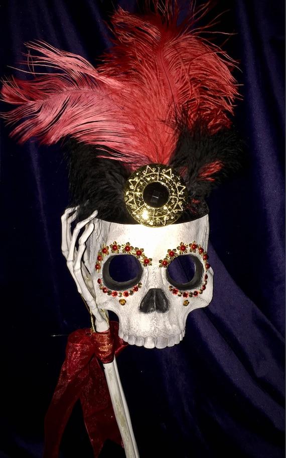 Aztec Sugar Skull Masquerade Day Of The Dead Original Halloween Biohazard Baby Mask