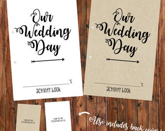 Printable Wedding Children's Activity Coloring Fun Book Instant Download Digital File