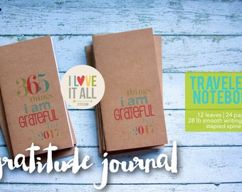 Gratitude Journal, Midori Travelers Notebook, Planner Insert, Fauxdori, Grateful Notebook, Thankful, Blessed, Thankfulness, Jotter Refill