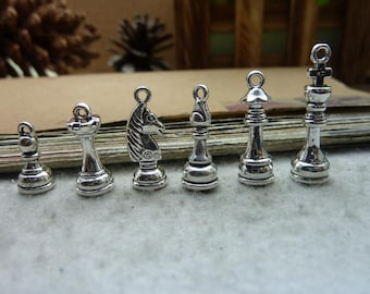Chess Charm Set - Clip-On - Ready to Wear