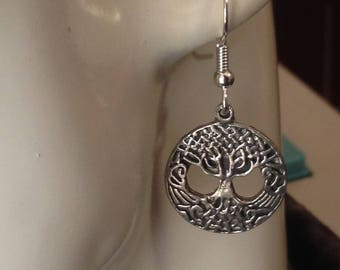 Small Tree of Life earrings made with Australian Pewter and Surgical Steel hook