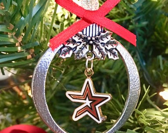 Houston Astros Christmas Keepsake Ornament~Astros Ornament~USA Seller~Fast Shipping~Free Domestic Shipping!!!