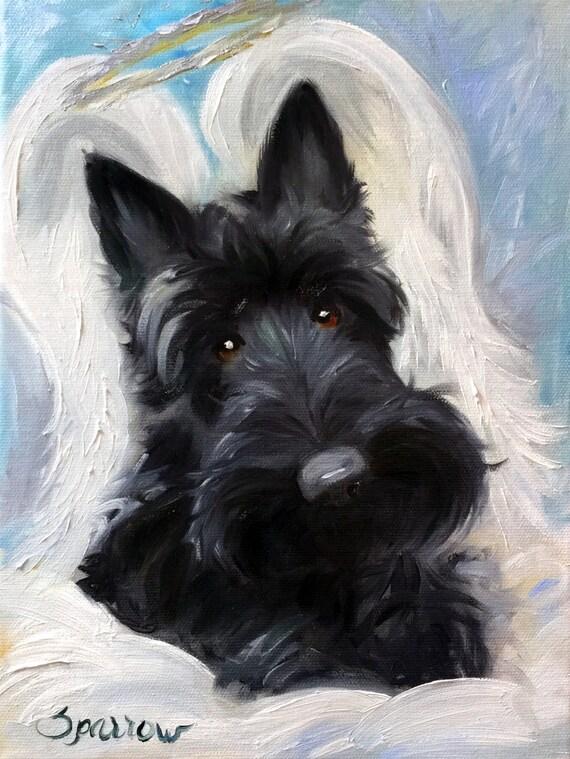 Canvas Print Scottish Terrier Scottie Dog Scottish