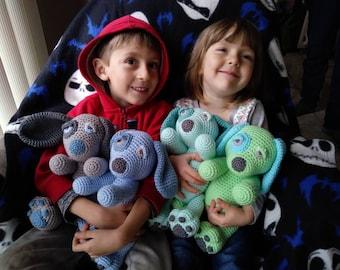crochet puppy plush toy - choose your color