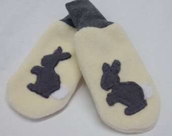 The Reid Rabbit Mittens, 0 to 12 Month Size, Ready to Ship