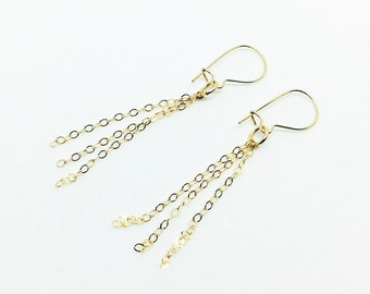 Gold filled chain earrings!