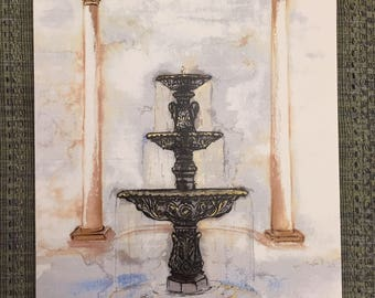 Belhaven Fountain|Art Print