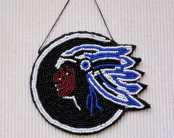 pearl patch on black leather