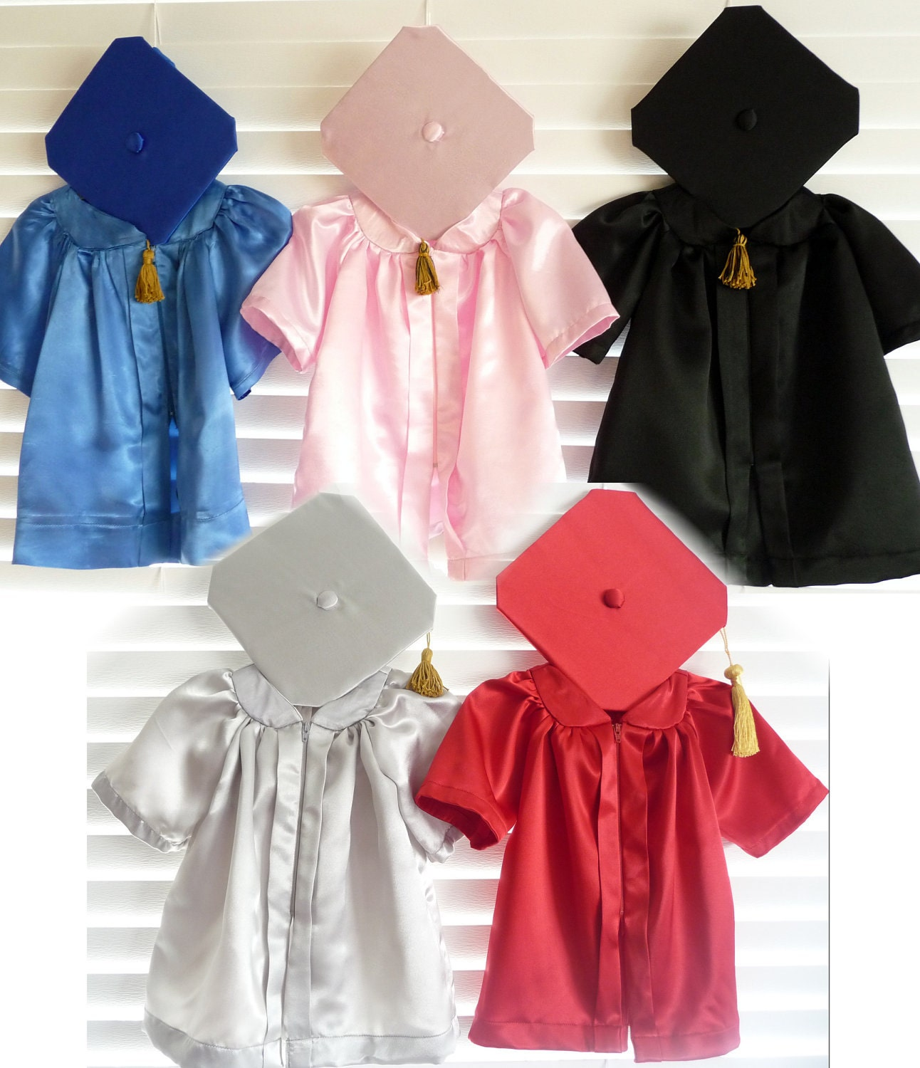 Infant Graduation Cap and Gown/ Robe Outfits for Baby and