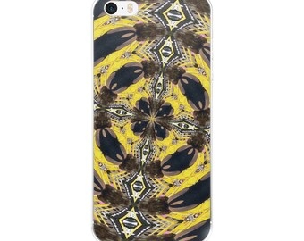 Yellow and Black Kaleidoscope iPhone Case