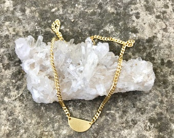 Gold 1/2 moon necklace