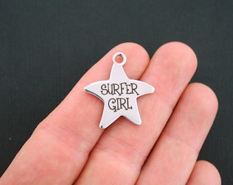 Surfer Girl Stainless Steel Charms Starfish - Exclusive Line - Quantity Options - BFS953