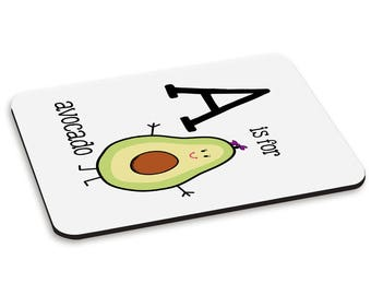 Letter A Is For Avocado PC Computer Mouse Mat Pad
