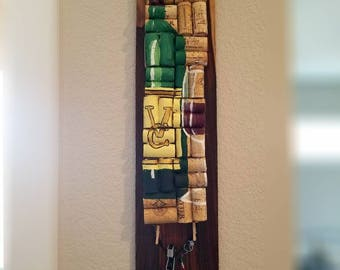 Personalized Winecork Art and Bottle Opener