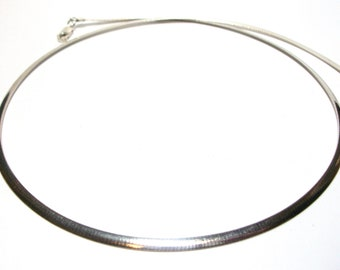 """Omega chain, Sterling silver chain, heavy omega link, 18 inch chain, supply, necklace jewelry, """"Omega"""""""