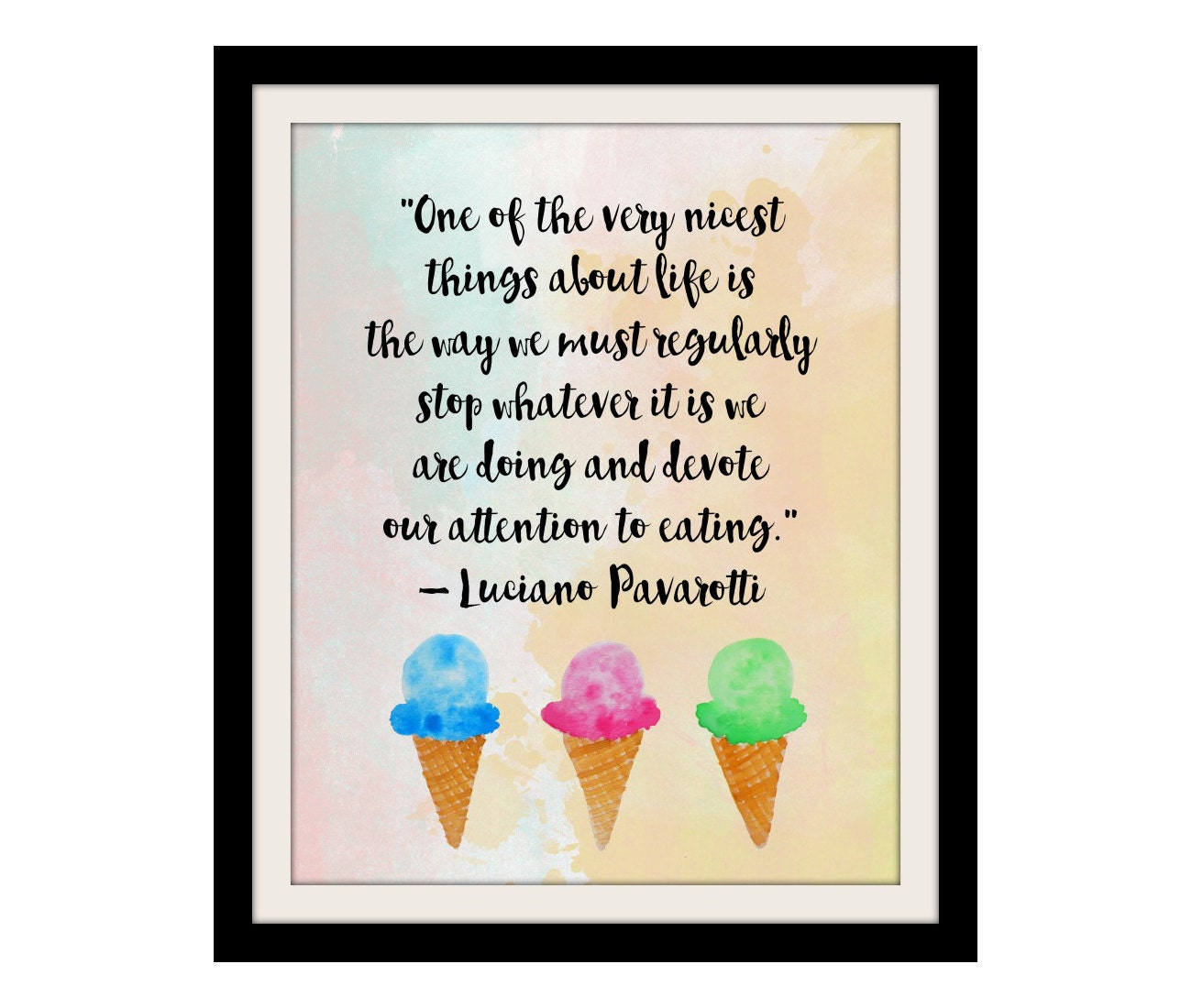 Kitchen Wall Decor Food Art Print Kitchen Quotes Colorful Wall