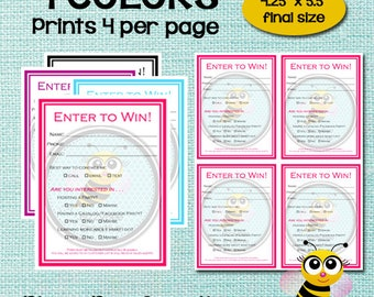 Customer etsy enter to win raffle ticket drawing slip door prize form customer survey fandeluxe Image collections