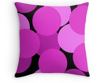 Pink Black Pillow, Pink Pillow, Pink Black Bedding, Pink Black Pillow Case, Pink Room, Pink Throw Pillow, Pink Bedding, Pink Black Room